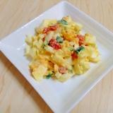 ズッキーニ・パプリカの卵サラダ