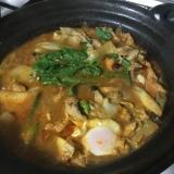 卵入り和風チゲ鍋
