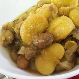 花豆と椎茸のカレー煮