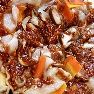 和と中華のコラボ★豚バラと茄子の重ね蒸し