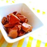 黄桃の缶詰シロップ活用!鶏肝の甘辛煮♡
