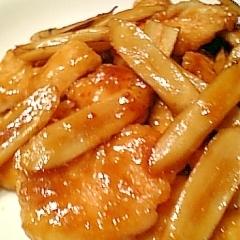 鶏むね肉とごぼうの南蛮酢焼き