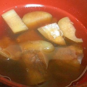 ナスの中華風スープ