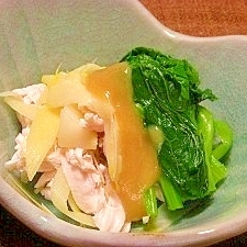 筍の姫皮の酢味噌かけ