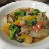 ホタテ貝柱と野菜の中華炒め
