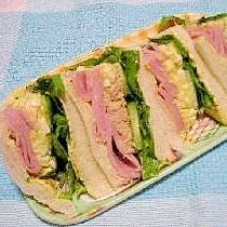 喫茶店風☆ハムと玉子のサンドイッチ