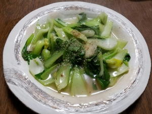 【中華】味仙風?つゆだく 青菜炒め