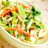 ❤小松菜と冷凍牛蒡人参ミックスのオイマヨ炒め❤