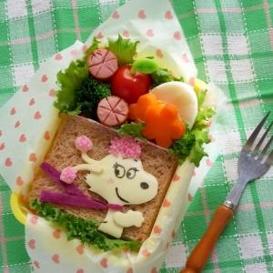 キャラ弁☆スヌーピーのGFフィフィのお弁当♪