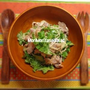 トロリゆで豚とたっぷり野菜の温サラダ
