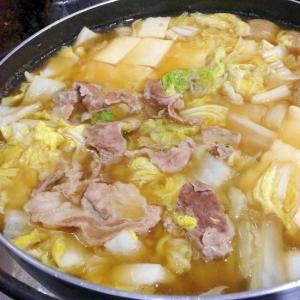 キュート鍋で☆豚肉と白菜の寄せ鍋