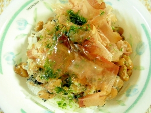 大根と納豆のおかかサラダ風
