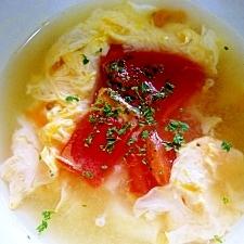 卵とトマトのコンソメスープ