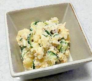 シーチキンとキュウリのポテトサラダ