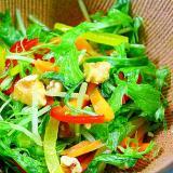 水菜とパプリカと胡桃のナムル