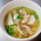 里芋としめじの和風スープ