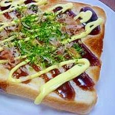 ソース&マヨネーズでお好み焼き風トースト♪