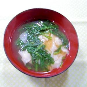 春菊のワンタンスープ