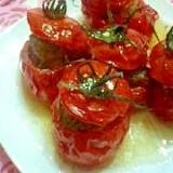 トマトのファルシ (トマトの肉詰め)