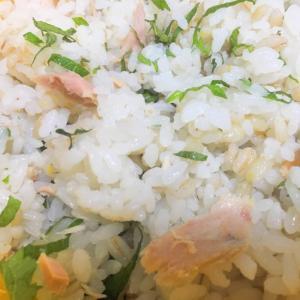 大葉とツナのもち麦混ぜご飯