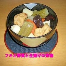 ふき入り和風野菜と生揚げの煮物