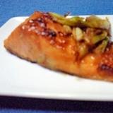 フライパンで簡単☆鮭の味噌だれ焼き