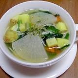 薩摩芋のコンソメスープ