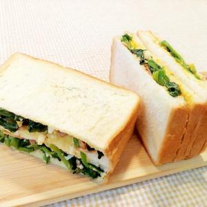 ♪たまマヨ和え♡ほうれん草ベーコンのサンドイッチ♪