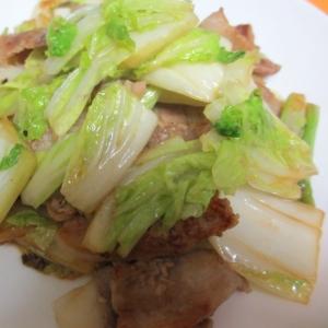 豚バラと白菜の酢醤油炒め