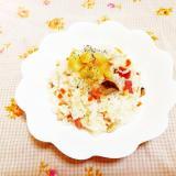 塩レモン&オリーブ風味♪きのこ炒飯