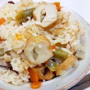 簡単!ごぼう天と中華野菜ミックスの炊き込みご飯♪