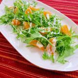 デコポンと水菜のサラダ