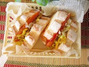 大阪風☆ホットドックの具でサンドイッチ