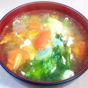 トマトとセロリの卵スープ