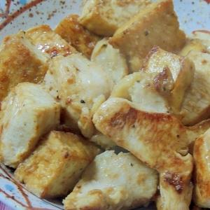 超簡単!鶏むね肉と厚揚げのマスタードマヨネーズ焼き