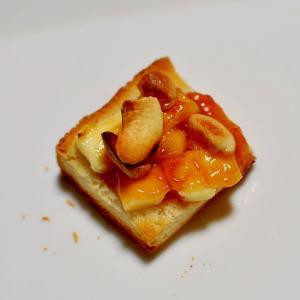 チーズ&杏ジャム&ナッツdeおつまみトースト
