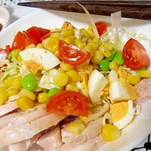 鶏ハムの彩り野菜サラダ
