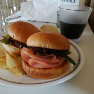 あっさりロースハムと野菜バーガー