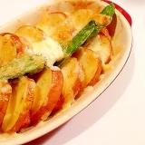【超簡単】皮つきジャガイモとベーコンのオーブン焼き