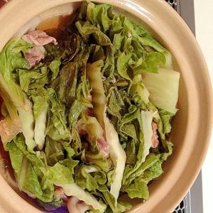 残業のパパに♫白菜と豚肉の簡単鍋