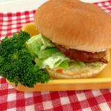 照り焼きハンバーガー☆ブロッコリー添え★