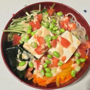 超簡単! 豆腐サラダ