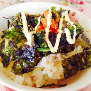 ほうれん草ナムルとキムチのマヨご飯❤︎