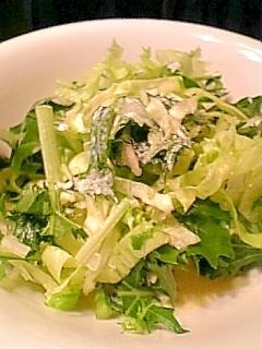 レタスと水菜の和風コールスロー♪