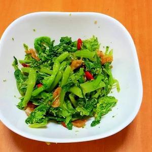 菜の花と鳥皮の辛子風味サラダ