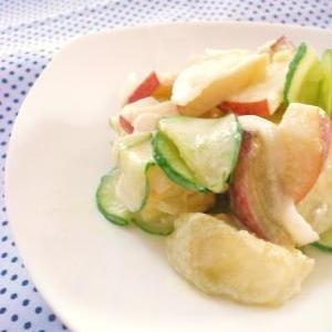 サツマイモとりんごのスイートサラダ。