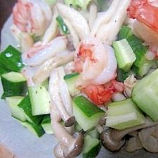 あさり海老野菜サラダ