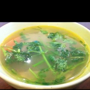 人参とゴボウの生姜スープ