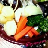 タジン鍋で温野菜♪塩麹バーニャソース!!
