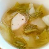 蕪と青梗菜のスープ